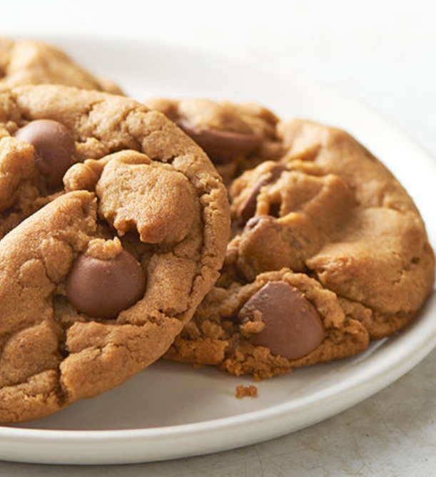 No Flour Chewey Peanut Butter Chocolate Chip Cookies Recipe Just 5
