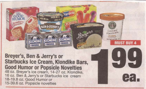 graphic about Ben and Jerry's Printable Coupons titled Ben Jerrys Ice Product Merely $1.16 at Shaws with Printable