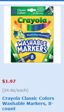 photograph regarding Crayola Coupons Printable known as Warm** Crayola Washable Markers Basically 97 CENTS at Walmart with