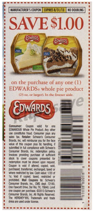 image relating to Edwards Pies Printable Coupons called Edwards pie coupon 2018 : Absolutely free things discount codes canada