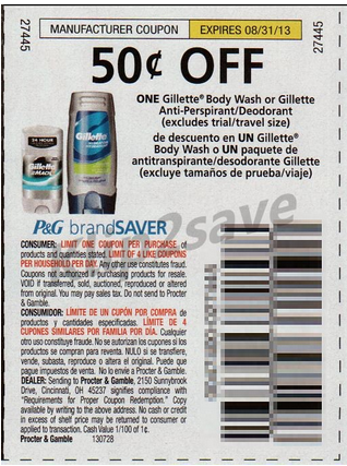 Gillette body wash coupons