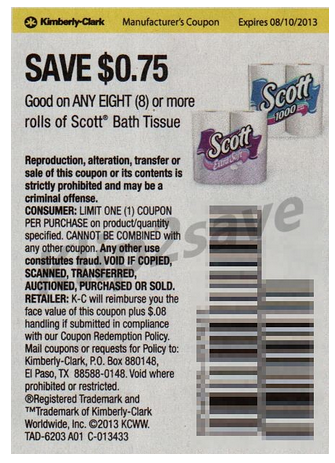 Free coupons scott toilet paper