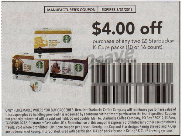 picture regarding Starbucks Printable Coupons identify Printable discount coupons for starbucks k cups : Most straightforward 19 television set promotions